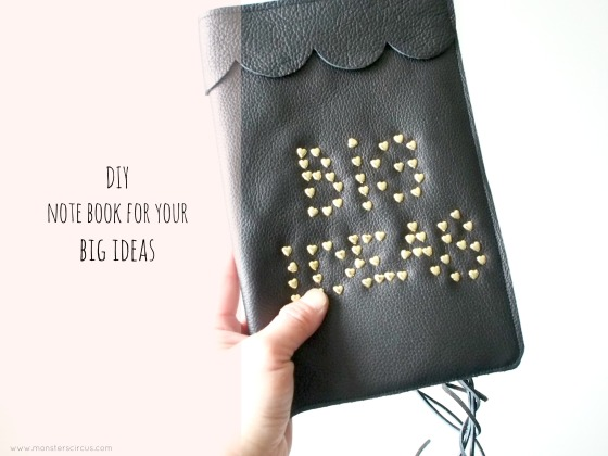 DIY leather covered notebook